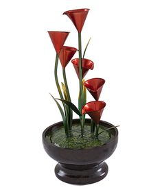 Another great find on #zulily! Red Floral Fountain by Evergreen #zulilyfinds
