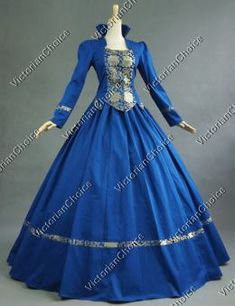 3da52809fb Victorian Gothic Brocade Gown Period Dress Prom Reenactment Clothing Punk  111 M