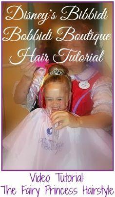 It's ALL Good in Mommyhood: Walt Disney World's Bibbidi Bobbidi Boutique: Fairy Princess Hair Tutorial