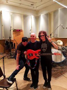 The three amigos ~ Chad Smith, Joe Satriani, Glenn Hughes @ Sunset Sound in Hollywood recording Joe's new Record #WhatHappensNext ⚡️ lot of love & Passion