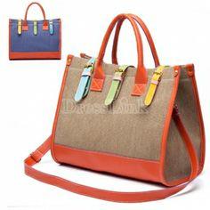 Toile Messenger Satchel sac à main sacs à main sac fourre-tout féminines. 4,84 €