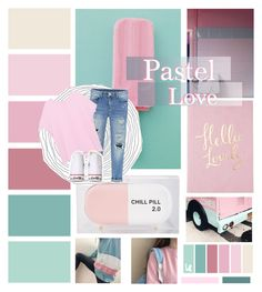 """""""Pastel Love"""" by ducky-momo-fangirl ❤ liked on Polyvore featuring Sarah's Bag, Pinko, Converse, women's clothing, women, female, woman, misses and juniors"""