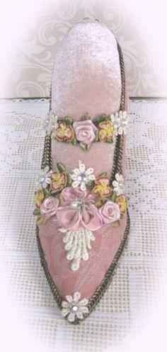 Pink Shoe Pin Cushion-Pin Cushion