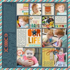 Adore this #Project #Life #scrapbook Page by Trace at #DesignerDigitals
