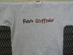 Hogwarts Gryffindor House Childrens T-Shirt. Can Be Customized To Size And Color.. $13.00, via Etsy.