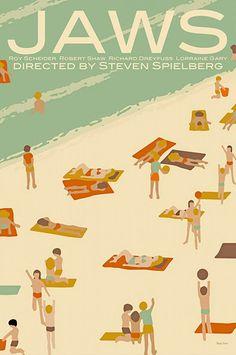 Claudia Varosio's beautifully illustrated movie posters: Jaws