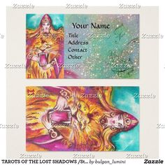 #TAROTS OF THE LOST SHADOWS #Strength /#Fortitude Business Card  #tarot #magic #art #psychicreader #psychics #cartomante #astrology