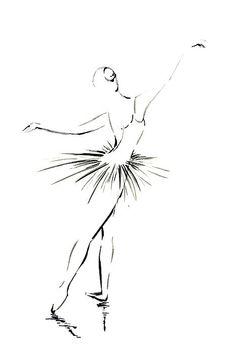 Minimalist drawing. Ballerina. Cs room