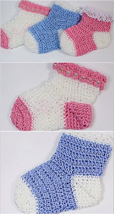 Fast And Easy Crochet Baby Socks Today we have an amazing video tutorial for crochet lovers and we hope you will master it easily. Crochet baby socks always look adorable and cute, but these socks …Miniscule stockings are usually the most adorable Crochet Baby Socks, Crochet Baby Blanket Beginner, Beginner Crochet Projects, Crochet Baby Clothes, Crochet Slippers, Free Crochet, Diy Baby Socks, Booties Crochet, Baby Slippers