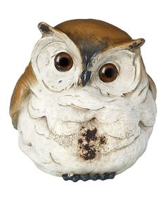 Take a look at this Brown & Ivory Hooters Single Owl Large Figurine by GANZ on #zulily today!