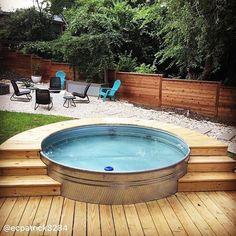 Backyard Pool Designs, Small Backyard Pools, Small Pools, Pool Decks, Pool Landscaping, Stock Pools, Stock Tank Pool, Diy Swimming Pool, Diy Pool