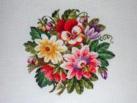 Gallery.ru / Роза, мак и фиалка - Вышивка по старинным схемам - Maarinna