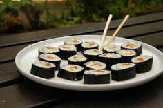 My first attempt of making sushi.