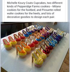 High heeled cupcakes - great idea for a fashion girl - LOVE LOVE LOVE
