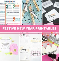 13 Festive Free Printables to Ring in the New Year.