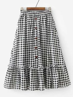 SheIn offers Ruffle Hem Gingham Skirt & more to fit your fashionable needs. SheIn offers Ruffle Hem Gingham Skirt & more to fit your fashionable needs. Skirt Outfits Modest, Modest Skirts, Cute Skirts, Dress Skirt, Ruffle Skirt, Long Skirts, Shirt Dress, Casual Skirts, Work Outfits