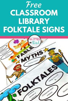Are you teaching fables, folktales, and myths?  Grab my FREE fable, folktale, and myth library signs - sign up here and download immediately!