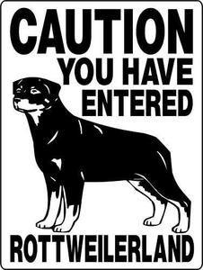ROTTWEILER ALUMINUM DOG SIGN 1971
