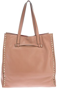Pink Leather Tote Bag by Valentino Garavani. Buy for $1,691 from farfetch.com