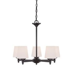 Darcy Oil Rubbed Bronze Five-Light Chandelier; ships 1 to 5 days