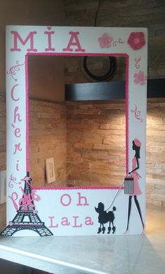 Barbie in Paris Photo Booth Frame OH LA LA by mariscraftingparty