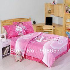 Розовый Cardcaptor Sakura CCS реактивной печать девушки постельное белье хлопок утешитель детская постельное белье твин-спальная кровать комплект