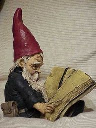 gnome reading in my garden