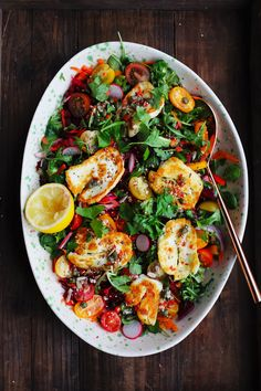 Halloumi Rainbow Salad