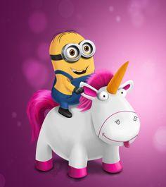 Minion Riding Unicorn by Samalah Gray, via Behance