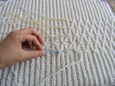 Smocking on a Brioche Rib Knit: