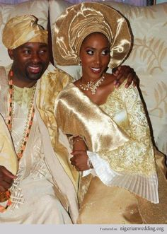 Nigerian Wedding Colors: Aso-Oke Color Matching Ideas For Traditional Engagement Ceremony |