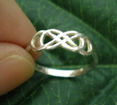 Silver Double Infinity Ring  Revenge  Infinity times by yhtanaff, $32.00
