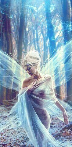 29 Trendy Ideas For Fantasy Art Goddesses Fairy Tales Magical Creatures, Fantasy Creatures, Fairy Land, Fairy Tales, Forest Fairy, Blue Forest, Woodland Fairy, Elfen Fantasy, Fantasy Kunst