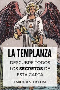 La Templanza es una de las cartas de Tarot más serenas y armoniosas. Es el XIV Arcano Mayor. Descubre todos los secretos y significados pulsando la imagen. Tarot Significado, Ayurveda, Reiki, Comic Books, Peace, Education, Comics, Drawings, Tarot Decks