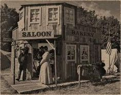 an old west saloon and bakery