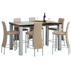 Table de cuisine rectangle en stratifié hauteur 90 cm - Quadra 530ba5dfff84