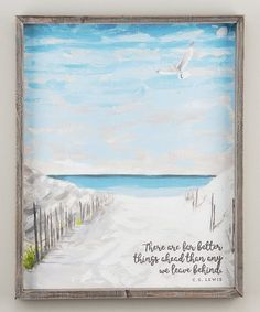 Another great find on #zulily! 'Far Better Things' Framed Print #zulilyfinds