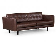This luxurious brown Italian leather sofa has extraordinary craftsmanship, beautiful curves and clean lines. Considered by design hunters to be one of the premium sofa designs of the mid-century p…