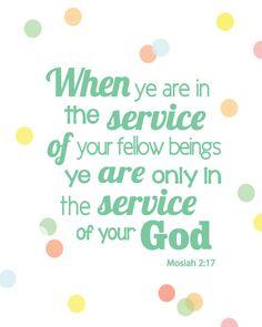 Service scripture quote printable poster pdf. via Etsy.
