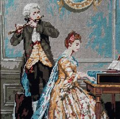 Petit Concert/little concert hand stitched by fleursusannah