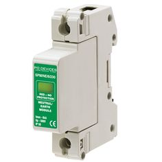 A1SPM/NE/6/230 - 6kA Neutral/Earth (w/o Remote Connector) - Type 2 Test Class II - This modular #surgeprotection #device provides #protection of equipment connected to incoming low voltage AC power supplies against the damaging effects of transient over voltages caused by local #lightning strikes, or the switching of electrical inductive or capacitive loads.