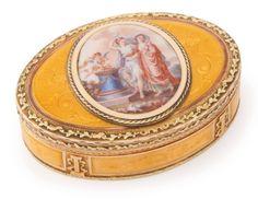 A gold and enamel snuff box, Swiss or German, circa 1790