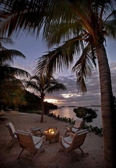 What a backyard view. A' La Mer - Fire Pit - tropical - landscape - other metro - by Barefoot Design Group, LLC Dream Vacations, Vacation Spots, Paradis Tropical, I Love The Beach, Tropical Design, Beach Design, Tropical Style, Tropical Paradise, Tropical Landscaping