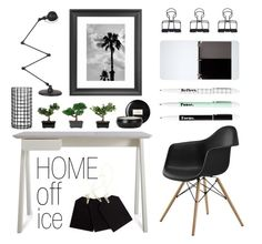 """""""Home Office - Monochrome"""" by by-jwp ❤ liked on Polyvore featuring interior, interiors, interior design, home, home decor, interior decorating, Blu Dot, Jieldé, Kikkerland and Mead"""