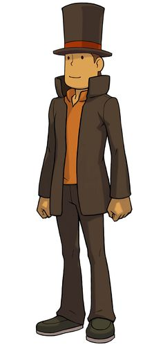 Professor Hershel Layton | Professor Layton vs. Phoenix Wright: Ace Attorney Look at this lovely buttface :3