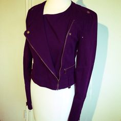 HPRachel Roy Purple Moto Jacket Isn't that color amazing? It's super rich and cool yet I completely forgot about this, and never wore it. The original owner wore it maybe twice? Perfect condition. Marked as a Medium but runs like an XS, max Small. Rachel Roy Jackets & Coats
