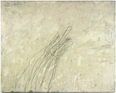 Oil-based house paint and lead pencil on canvas 123x154 cm © Cy Twombly