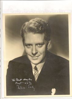 Original, vintage, signed photo of Nelson Eddy - ESCANO COLLECTION