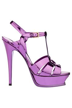 Yves Saint Laurent – -- I don't usually like heels like this, but for some reason I like these. Maybe because it's purple? Women's Shoes, Me Too Shoes, Shoe Boots, Disco Shoes, Purple Sandals, Purple Shoes, Sexy Heels, High Heels, Pumps