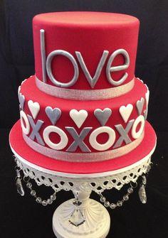 XOXOX Engagement Cake